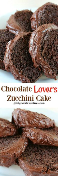 Chocolate Lover's Zucchini Cake is a deliciously moist chocolate cake recipe and a family favorite is part of Chocolate zucchini cake - Decadent Chocolate Cake, Chocolate Cake Recipe Easy, Chocolate Desserts, Zuchinni Chocolate Cake, Moist Chocolate Cakes, Chocolate Chocolate, Chocolate Frosting, Just Desserts, Delicious Desserts