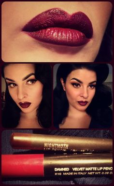 MAC 'Nightmoth' + NARS 'Damned' = My fave lip for fall. MUAH and model Stela Licina