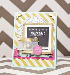 Sweet card, love crates new lines. Go Crate Paper