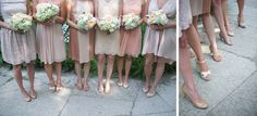 Mismatched Bridesmaid Dresses in Neutral Colors Different Bridesmaid Dresses, Wedding Bridesmaid Dresses, Neutral Wedding Colors, Neutral Colors, Museum Wedding, Chocolate Color, Dream Wedding, Bridal, Bouquets
