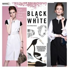 """""""Black vs White"""" by paycustom-fashion ❤ liked on Polyvore featuring Gorgeous Cosmetics, Dune, polyvoreeditorial, polyvorefashion and polyvoreset"""
