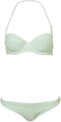 ShopStyle: Mint Gingham Underwired Bikini