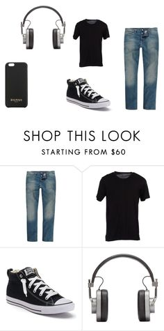 """Teen boy casual outfit"" by kgrandall on Polyvore featuring River Island, Dolce&Gabbana, Converse, Master & Dynamic, Balmain, men's fashion and menswear"