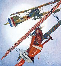 Foro de Historia Militar el Gran Capitán • Ver Tema - Pinturas Aviación Primera Guerra Mundial