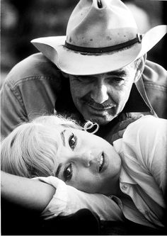 Clark Gable & Marilyn Monroe on the set of The Misfits