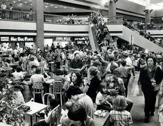 Malls used to be packed with people, especially the food courts!  Dallas' Valley View Mall 78