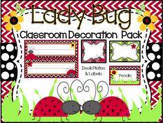 Lady Bug Classroom Decoration Pack- $55 www.etsy.com/shop/lollylanddesigns