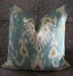 Designer Pillow Cover - 18 x 18  - Nav Ikat. $34.00, via Etsy.