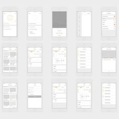 UI/UX wireframes by Ryan Hunter  #digital #interface #wireframe #design #application #ui #ux #webdesign #app #concept #userinterface #userexperience #inspiration #materialdesign #instaart #creative #dribbble #digitalart #behance #appdesign #sketch #designer #web #html5 #iphone #mobile #iphoneapp #art #colors #concept