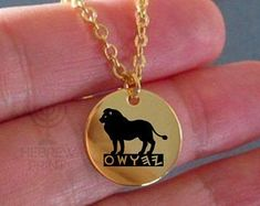 Hebrew Israelite Jewelry & Necklaces For The 12 by HebrewPrint Lion Necklace, Tribal Necklace, Gold Necklace, Pendant Necklace, Tribe Of Judah, Jewish Jewelry, Lion Of Judah, Round Pendant, Necklace Lengths