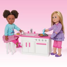 My Life As 18 inch Dollhouse Furniture, Kitchen, White Claire's Makeup, Our Generation Dolls, Fall Accessories, Jojo Siwa, New Furniture, Fall 2016, Pixar, Toy Chest, American Girl