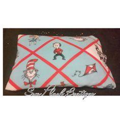 Dr. Seuss Pillowcase, Pillowcase, Fleece Pillowcase, Cat in the Hat Pillowcase, Soft Pillowcase by SewPlushBoutique on Etsy