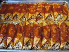 Beef enchiladas to feed a crowd