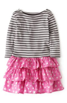 Mini Boden Stripy Ruffle Dress (Toddler Girls, Little Girls & Big Girls)(Online Only) | Nordstrom