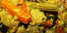 Aviyal (Mixed Vegetable Curry Kerala Style ;) ) Vegetable Curry, Mixed Vegetables, Shrimp, Vegetarian, Chicken, Meat, Kerala, Recipes, Food