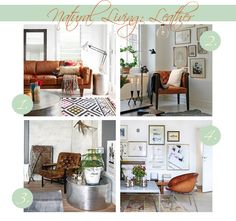 Using leather in your decor