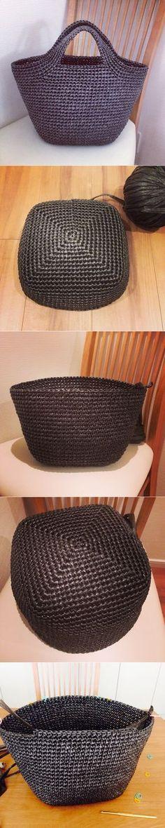 crochet tote / basket / bag