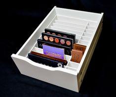Alex 9 Palette Organizer - Makeup Organizer - Alex 9 Makeup Drawer Insert - Palette Storage - Cosmetic Storage by TheCosmeticArchive on Etsy https://www.etsy.com/listing/466785739/alex-9-palette-organizer-makeup