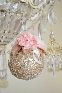 Beautiful Handmade Gold Sparkly Christmas by Jenneliserose on Etsy