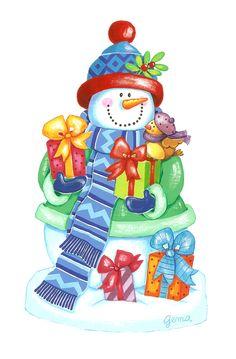 Snowmen-10 http://elpetitcaracol.blogspot.com.es/