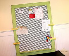 Sandee's quatrefoil bulletin board