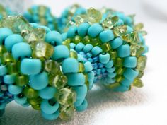 Smooth Sailing Cellini Spiral Beadwoven Bangle Bracelet - The Twisted Collection