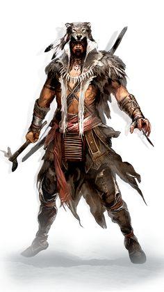 Ratonhnhaké:ton Warrior Concept Art, Fantasy Warrior, Fantasy Art, Dungeons And Dragons Characters, Dnd Characters, Fantasy Characters, Fantasy Character Design, Character Concept, Character Art