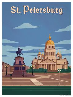 Vintage Poster Image of St. Petersburg Poster - Size - Size includes a inch white border around the artwork. Digital Print on 80 lb cover matte white Physical poster does. Virgin Islands National Park, London Poster, Tourism Poster, National Park Posters, National Parks, Beach Posters, Photo Vintage, Travel Themes, Vintage Travel Posters