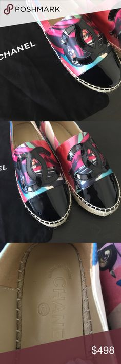 💋New Authentic Chanel Flats Brand new Authentic Beautiful loafers by Chanel. Thick platforms, leather insole, super comfy. Don't miss out this unique pair!new without box. 🚫No trade ✅Reasonable offer welcome💜Pet+Smoke Free Home 🚀Fast shipping🚫 CHANEL Shoes Flats & Loafers