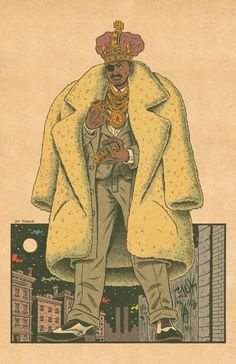 Slick Rick by Ed Piskor. Hip-Hop Family Tree.