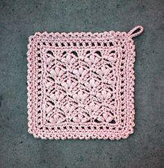lace puff dishcloth #055