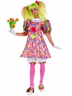 Adult Tickles The Clown Women's Costume
