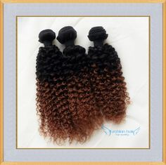Kinky Curly Ombre Human Hair Extensions 6A Grade 1bT30 Two Tone Peruvian Virgin Hair Weave Bundles Online with $31.55/Piece on Fashionhairqd's Store   DHgate.com   #DHgatePin