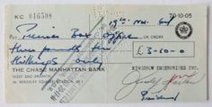 Judy Garland Signed Wizard of OZ Authentic Autographed U.K. Check (PSA/DNA), 2016 Amazon Top Rated Signed Personal Checks  #Collectibles