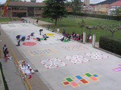 Playground painting ideas - Aluno On Backyard Games, Outdoor Games, Outdoor Fun, Preschool Playground, Playground Games, Playground Painting, Outside Games, Outdoor Play Spaces, Outdoor Classroom