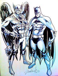 Hawkman and Batman