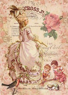 Decoupage Vintage, Vintage Abbildungen, Images Vintage, Decoupage Paper, Vintage Labels, Vintage Ephemera, Vintage Pictures, Vintage Cards, Vintage Paper