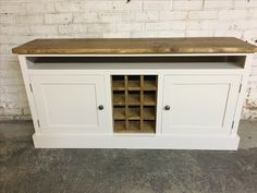 Cobwebs Furniture Company. A Dresser Base With A Rustic Pine Wine Rack And  Top. Painted In Fu0026B Joau0027s