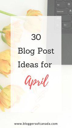 30 Blog Post Ideas F