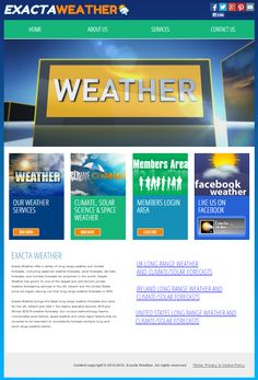 The brand NEW Exacta Weather website is now LIVE - Please feel free to explore it (It now includes separate sections for the UK, Ireland & USA) @ http://www.exactaweather.com/home.html