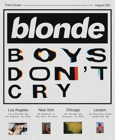 frank ocean boys don't cry zine