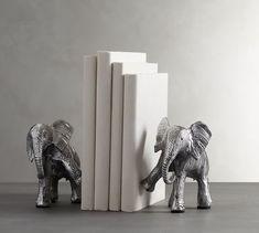Elephant Bookends | Pottery Barn