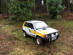 Our new sacrificial Panda 4x4 during its first outing in the woods.