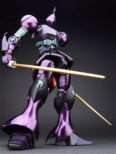 "makubenoaijin: "" MG 1/100 Gyan by BONDS you say ""purple mobile suit"" like it's a BAD thing """