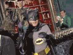 Adam West Batusi Batman (with Sound!) Will Be a Comic-Con Exclusive Mattel Figure - Topless Robot - Nerd news, humor and self-loathing. Batman Gif, Im Batman, Batman Robin, Funny Batman, Batman 1966, Adam West Batman, Triple 9, Hercule Poirot, P51 Mustang