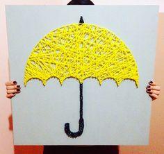 String Art Yellow Umbrella, How I Met Your Mother