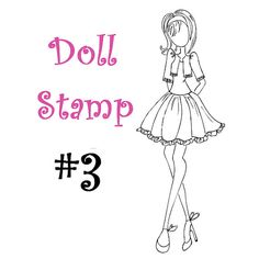 Prima Doll Stamp - Julie Nutting - Large Cling Rubber -  Mixed Media - READY TO SHIP - nr3
