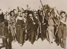 Milicianos republicanos durante la Guerra Civil