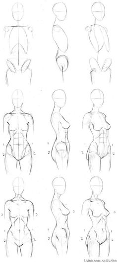 Basic Female (female) torso painting process this is the same method my instructor used