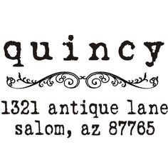 Just Ordered for our New Address! Vintage antique typewriter font custom return by stampoutonline, $29.95